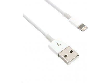 C-TECH USB 2.0 Lightning (IP5 a vyšší) kabel 1m, bílý