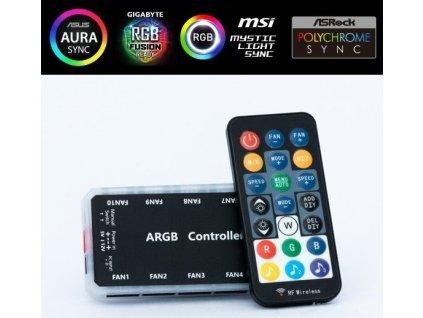 1stCOOL AURA RAINBOW ARGB řadič a dálkové ovládání (MUSIC Controll)