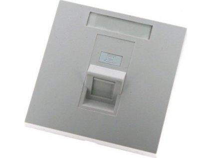 EuroLan modulární zásuvka UTP pod omítku, pro 1 keystone, 45°, bílá