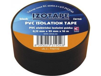 Izolační páska na kabely PVC 25/10 černá