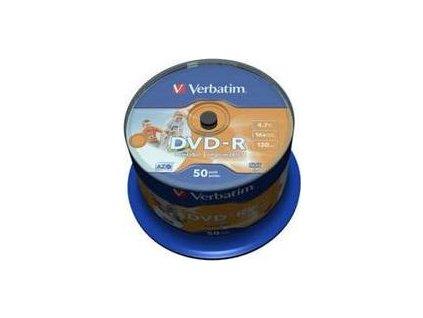 Verbatim DVD-R 4,7GB printable 16x SPINDL (50pack)