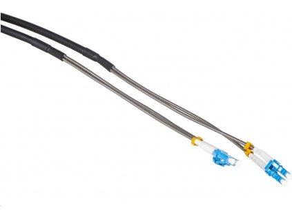 Masterlan optický venkovní armorovaný patch cord, LCupc/LCupc, Duplex, Singlemode 9/125,30m