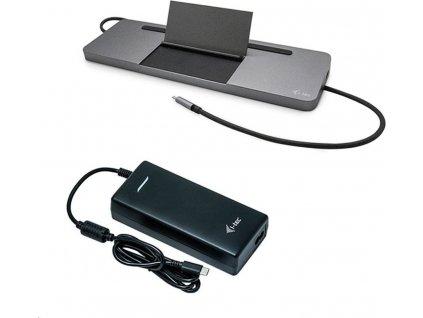 I-TEC USB-C Metal Ergonomic 4K 3x Display Docking Station with Power Delivery 85W + i-tec Universal