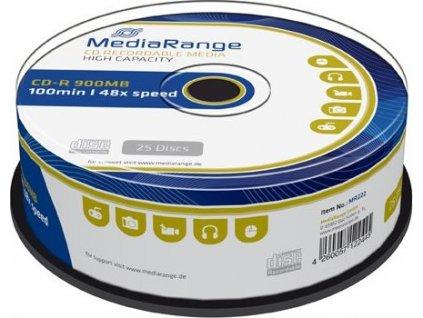 MediaRange CD-R 900MB/100min 48x SPINDL (25pack)
