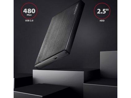 AXAGON EE25-XA ALINE box, černý