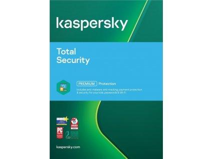 Kaspersky Total Security, 2 zařízení, 1 rok, obnovení licence, elektronicky