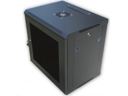 "DATACOM 19"" rozvaděč 12U/450 mm BK (sklo) černý"