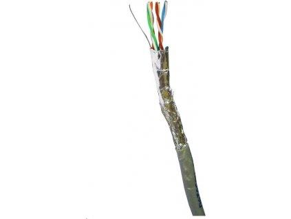 DATACOM SF/UTP drát CAT5E PVC, Eca 100m šedý