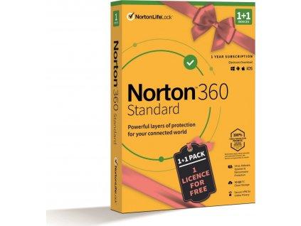 NORTON 360 STANDARD 10GB CZ 1uživ., 1 zařízení, 12měsíců, 1+1 ZDARMA, box