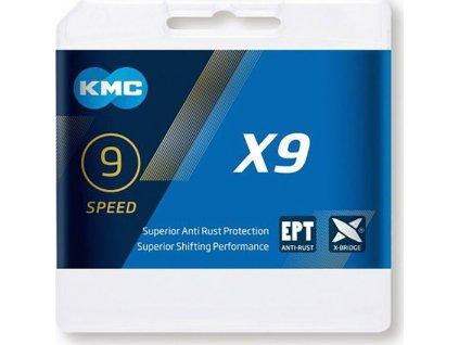 KMC X9 EPT -  9 rychlostí - spojka - 114 článků