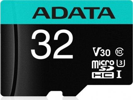ADATA Premier Pro microSDHC 32GB Class 10 UHS-I U3 100/80MB/s + SD adaptér