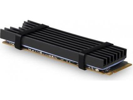 AXAGON CLR-M2L6, hliníkový chladič pro M.2 2280 SSD, 6mm