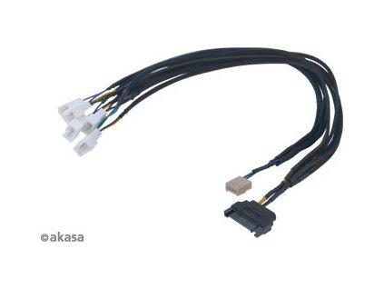 AKASA kabel FLEXA FP5S, pro připojení 5 PWM ventilátorů , 45cm