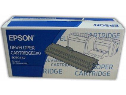 Epson S050167 Black toner (až 3000 stran) EPL-6200, ELP-6200L, EPL-6200N - originální