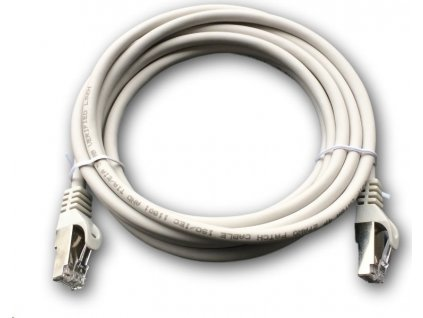 DATACOM Patch cord S/FTP CAT6A 3m šedý