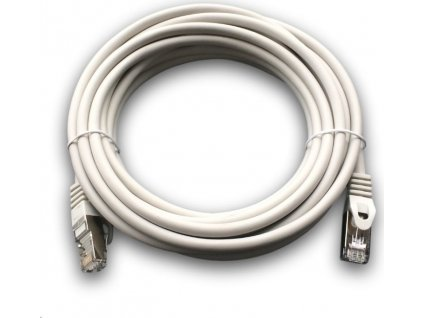 DATACOM Patch cord S/FTP CAT6A 5m šedý