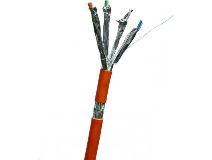 DATACOM S/FTP drát CAT7 LSOH,Eca 500m cívka, plášť oranžový