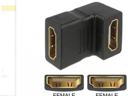 Delock adaptér HDMI samice > HDMI samice 90° down
