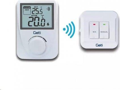 Termostat GETI GRT02 bezdrátový