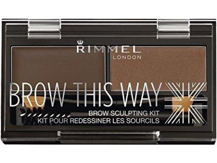 Rimmel London Brow This Way Scuplting Kit 2,4g - 003 Dark Brown