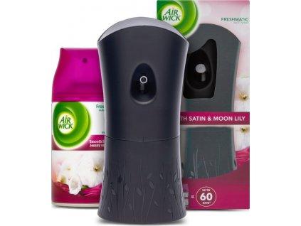 Air Wick Automatický Spray komplet Jemný satén a Měsíční lilie 250 ml