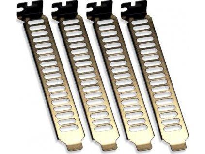 SilverStone Aeroslots záslepky PCI slot 4ks, stříbrná