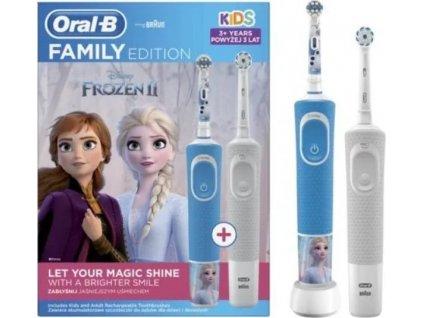 Oral-B Family pack - D100 Vitality Sensi White + D100 Kids Frozen II