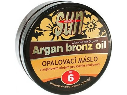 Sun Vital opalovací máslo s BIO arganovým olejem SPF 6 200ml