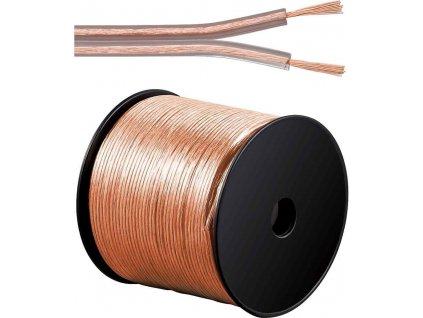 Kabely na propojení reprosoustav 99,9% měď 2x1,5mm2 100m