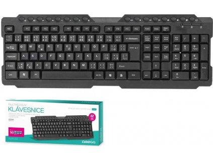 Omega klávesnice OK026  CZ USB (AURORA), černá