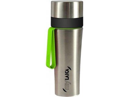 Laica Filtrační sportovní nerezová láhev, zelené poutko