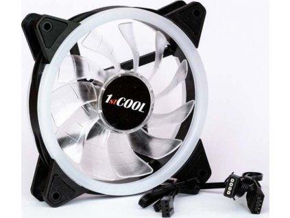1stCOOL REGULAR EVO RGB Double RING 12cm ventilátor 4pin/12V
