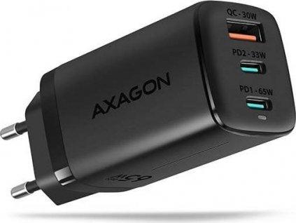 AXAGON ACU-DPQ65, GaN nabíječka do sítě, 3x port, 65W
