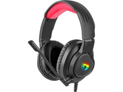 Herní sluchátka Marvo HG8958 s mikrofonem, ovládání hlasitosti, černá