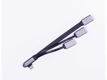 Visixa adapter 3v1 - USB-C na 3xUSB-A