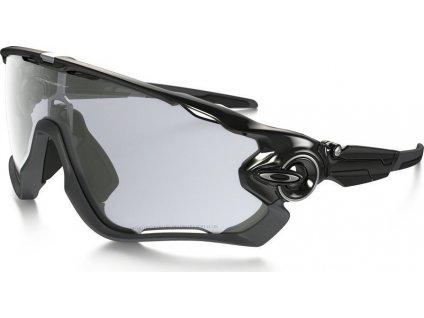 OAKLEY Jawbreaker Polished Black - Clear to Black Photochromic