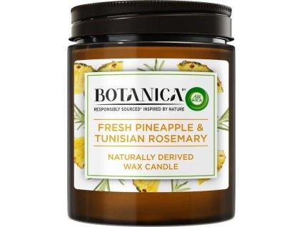 Botanica by Air Wick svíčka - Svěží ananas a tuniský rozmarýn 205 g