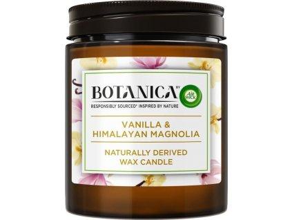 Botanica by Air Wick svíčka - Vanilka a himalájská magnolie 205 g