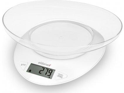 Eldonex WhiteStar kuchyňská váha, 5 kg, bílá