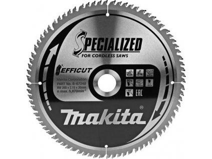 Makita B-67240 TCT pilový kotouč Efficut 260mmx30mmx80T