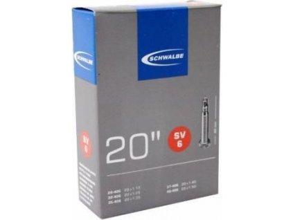 """SCHWALBE duše 20"""" SV6 28/40-406 galuskový ventilek"""
