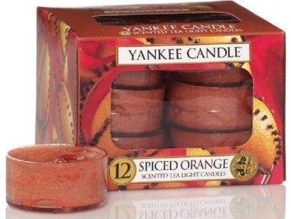 Yankee Candle Spiced Orange čajová svíčka 12x9,8 g