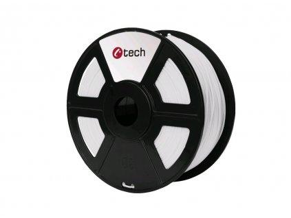 C-TECH filament PLA 1.75mm 1kg, bílá