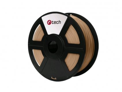 C-TECH filament PLA 1.75mm 1kg, dřevo