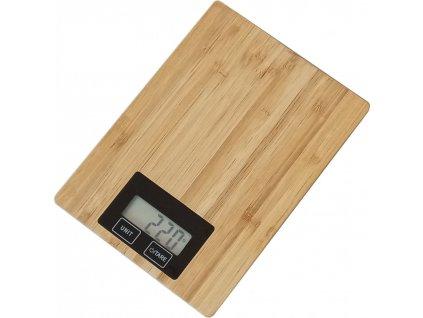 Omega Digitální kuchyňská váha bambus (OBKSB)