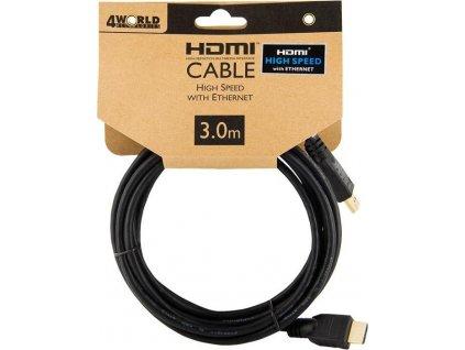 4World kabel HDMI High Speed s Ethernet (v1.4), 3m
