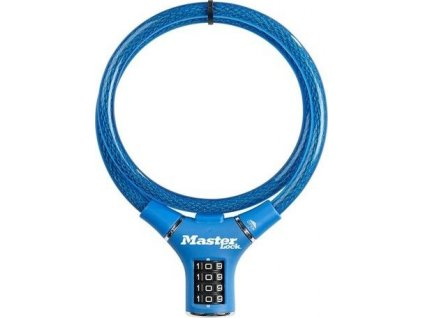 Master Lock Ocelové kombinační lanko na kolo 8229EURDPROBLU - 0,9m modré