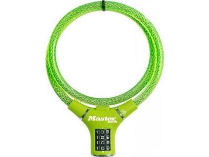 Master Lock Ocelové kombinační lanko na kolo 8229EURDPROGRN - 0,9m zelené