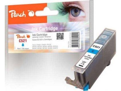 Peach C521 azurová (cyan) kompatibilní s Canon CLI-521c, 2934B001
