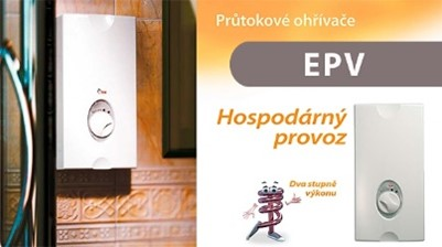 Průtokový ohřívač do sprchy - WTERM EPV